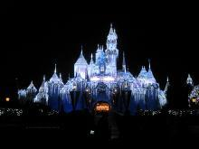 Замок Спящей красавицы в Диснейленде США, Флорида, Орландо, замок XX в