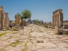 Город Иераполис (Хиераполис) Турция Памуккале фото история - Святой город